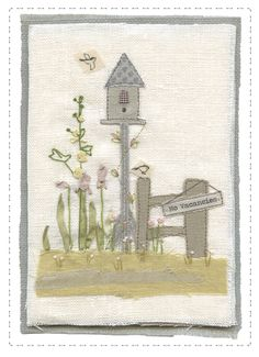 katebuchanan | Gallery Hand Applique, Machine Embroidery Applique, Applique Patterns, Applique Ideas, Fabric Cards, Fabric Postcards, Sewing Crafts, Sewing Projects, Free Motion Embroidery