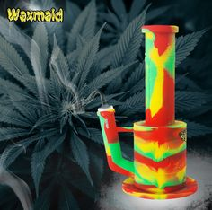 waxmaid bong, silicone water pipes, hot sale 420 products, glow in the dark #waxmaid #siliconebong #magneto #420