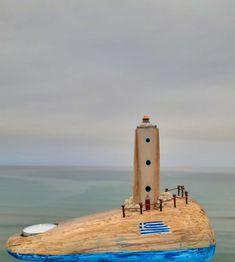 driftwood only Natural Materials, Driftwood, Lighthouse, Light Fixtures, Recycling, Lights, Nature, Bell Rock Lighthouse, Light House