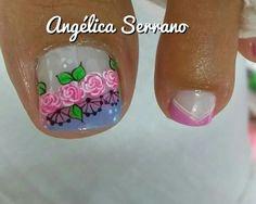 Pedicure Nail Art, Manicure, Toe Nail Designs, Toe Nails, Nail Stickers, Safe Room, Work Nails, Toe Nail Art, Simple Toe Nails