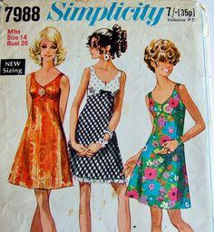 Vintage Simplicity Pattern - Princess Line Flared Mini Dress 1970s Size 14   eBay