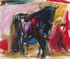 View Standing Bull 2 by Elaine de Kooning on artnet. Browse upcoming and past auction lots by Elaine de Kooning. Willem De Kooning, Abstract Painters, Abstract Art, De Kooning Paintings, Elaine De Kooning, Modern Art, Contemporary Art, Franz Kline, Examples Of Art