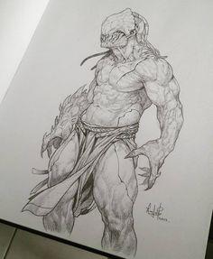"871 Likes, 11 Comments - Raciel Avila Silva (@racielavila) on Instagram: ""#sketch #characterdesign #monster #warrior #conceptart #artoftheday #artist #racielavila…"""