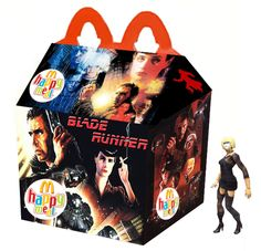 Wickedly Inventive Happy Meal Tie-Ins for Cult Movies Natural Born Killers, Kill Bill, Blade Runner, Happy Meal Box, Horror Cartoon, Spooky Stories, Pop Culture Art, Love Film, Classic Monsters