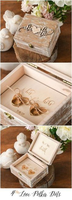 We Do ! Wooden Wedding Ring Bearer Box with custom engraving We Do ! Wooden Wedding Ring Bearer Box with custom engraving Wedding Pillows, Ring Pillow Wedding, Wedding Ring Box, Wedding Ring Engraving Ideas, Wedding Sets, Gold Wedding, Wedding Band, Wedding Favors, Wedding Invitations