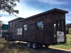 275 Sq. Ft. Phoenix Mobile Tiny House by Wind River Tiny Home ~ Charred Exterior ~ GREAT White INTERIOR w Dark Accents ~ Storage STAIRS ~ 5th Wheel