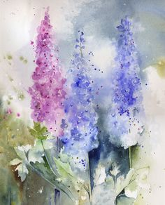 Watercolour Florals: Realistic Abstracts