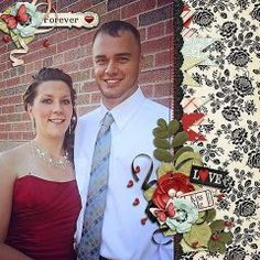 Love Is Digital Scrapbook Collection Valentine, February, Love, Sweetheart, Layout, 12x12, Page