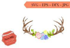 Hey, I found this really awesome Etsy listing at https://www.etsy.com/listing/503752685/floral-antler-svg-deer-antler-monogram