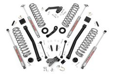 "2007-2014 4-Door Jeep JK Wrangler 3.5"" Series II Lift Kit w/N2.0 Shocks 609S #RoughCountry"