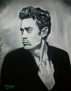 James Dean............Timeless Rebel..............in acrylic by TOM