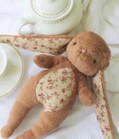 Bunny Toy-  Brown Cuddle Bunny-Tati Bunny Rabbit-Stuffed Animal