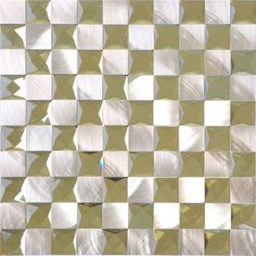 Diamond Mosaic 13 Face Silver Mirror Glass Tiles