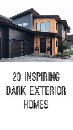 Black Windows Exterior, Black House Exterior, Exterior Paint Colors For House, Exterior Siding, Exterior Homes, Exterior Design, Exterior Colors, Home Modern, Modern Home Exteriors