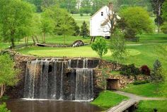 Waterfall Hole, Meadows Farm Golf Club, Fredericksburg, Virginia #Golf