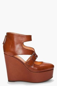 I just love these Marc By Marc Jacobs Brown Wertmuller Wedges!