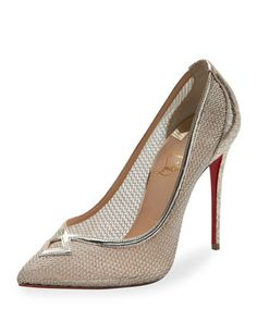 1f586c7575b2 Christian Louboutin Neoalto Mesh 100mm Red Sole Pump, Gold. Metallene SchuheGoldfarbene  SchuheDesigner ...