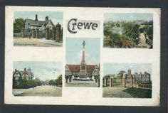 Old Crewe Postcard 1907 Multiview Cheshire Listing in the Cheshire,England,Topographical,Postcards,Collectables Category on eBid From deanosaur1972