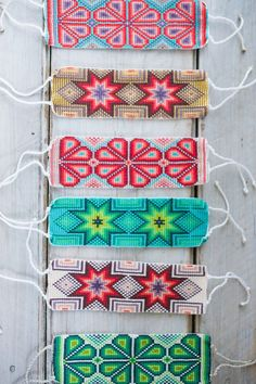 While these bracelets to us might just seem like some colorful beads, to the Huichol Indians, they have a much deeper meaning and symbolism. Wether you just enjoy the beauty of the piece or connect wiHuichol Hand Beaded Bracelets- see something like Bead Loom Bracelets, Beaded Bracelet Patterns, Jewelry Patterns, Seed Bead Patterns, Beading Patterns, Native Beadwork, Native American Beading, Seed Bead Jewelry, Diy Jewelry