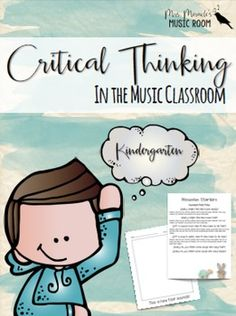 Need strategies to promote critical thinking in your Kindergarten music room? Want to encourage 21st century learning? This set includes: *Discussion starters: Several questions are included for each of the following concepts: loud/quiet, fast/slow, beat, high/low, and rhythm, as well as a page of questions for