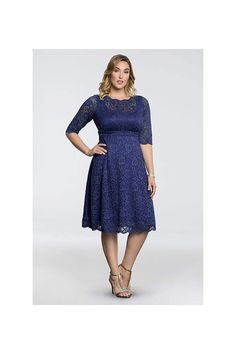 4067d0e5d18 Long 3 4 Sleeves Cocktail and Party Dress - Kiyonna