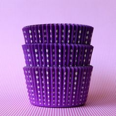 Color Morado - Purple!!! spotty cupcake liners