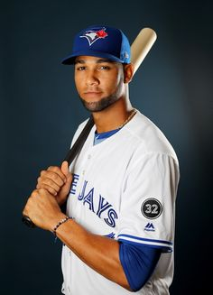 Lourdes Gurriel Photos - Lourdes Gurriel of the Toronto Blue Jays poses for a portrait on February 2018 at Dunedin Stadium in Dunedin, Florida. Hockey, Baseball Players, Sports Sites, Beautiful Men Faces, American League, School Sports, Toronto Blue Jays, Go Blue, Dunedin Florida