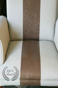 Painted Upholstered Chair Tutorial {before and after}