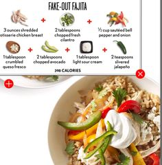 Fajita brown rice bowl