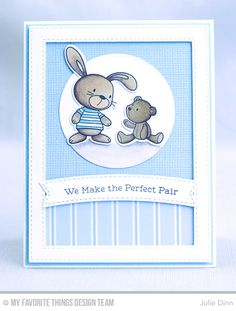 Snuggle Bunnies, Snuggle Bunnies Die-namics, Stitched Rectangle Frames Die-namics,  Circle STAX Set 1 Die-namics, Blueprints 2 Die-namics, Blueprints 11 Die-namics, and Blueprints 28 Die-namics - Julie Dinn  #mftstamps