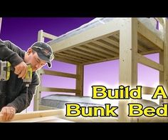 I've built a lot of these bunk beds in the past and recently built one for my own home. This is a super easy build as the materials are all common construction grade pine and every cut is a 90 degree cut so there are no complicated angles. The construction is with wood screws and pocket hole screws. Because all of the screws are installed from the inside there are no screw heads or carriage bolts showing on the outside. This gives the bunk bed a nice clean appearance. Both sides double...