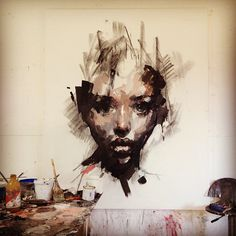 by Ryan Hewett L'art Du Portrait, Abstract Portrait, Portraits, Art Inspo, Painting Inspiration, Studios D'art, A Level Art, Schmuck Design, Art Design