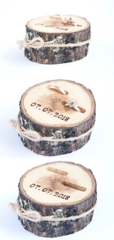 New Photo Rustic Ring Bearer Pillow, Wedding Wood Disc, Rustic Ring Box, Birch Wedding De Suggestions Are you currently searching for inexpensive wedding rings? At EFES you can find wedding rings from N Birch Wedding, Fall Wedding, Wedding Rustic, Dream Wedding, Rustic Weddings, Vintage Weddings, Wood Slices Wedding, Country Wedding Rings, Wedding Stuff