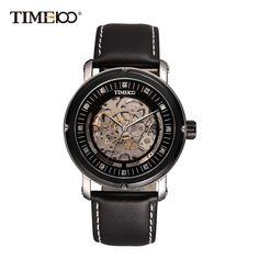 TIME100 Black Skeleton Automatic