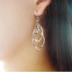 Voberry® Fashion Women Alloy Plated Stud Dangle Earings Eardrop Jewelry Silver Voberry http://www.amazon.com/dp/B01422TFQQ/ref=cm_sw_r_pi_dp_xt..wb0DMKXBN