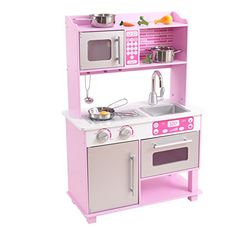 KidKraft 53291 Pink Toddler Kitchen with Accessories Toddler Kitchen, Kids Play Kitchen, Toy Kitchen, Kids Store, Toy Store, Kidkraft Vintage Kitchen, Kitchen Playsets, Pastel Kitchen, Kitchen Images