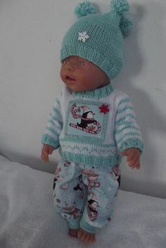 Baby Born, Knitted Dolls, Diy Doll, Doll Clothes, Onesies, Babies, Knitting, Crochet, Kids