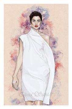 Fashion illustration - Diogo Miranda SS14 by Tania-S.deviantart.com on @deviantART