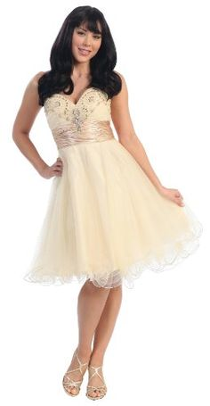 Strapless Beaded Cocktail Formal Prom Dress #2700 $92.99