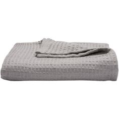 Living Co Throw Waffle (15,230 KRW) ❤ liked on Polyvore featuring home, bed & bath, bedding and blankets