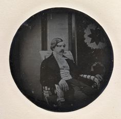 """misshonoriaglossop: """" Duke Maximilian Joseph in Bavaria. The Duke sitting on an armchair of Leo von Klenze in the Herzog-Max-Palais Munich about 1841. Wow, that´s a rare one! Hopefully it´s not mislabeled. """""""