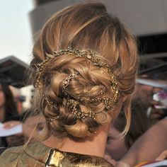 amazing updo, on the beautiful Jennifer Lawrence