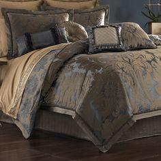 Sapphire Damask 4 pc Comforter Set