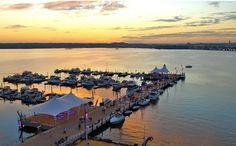 Watching the sunset at #GaylordNationalResort in National Harbor near Washington, D.C.