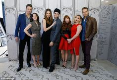 Say cheese: The cast (L-R) Peter Hermann, Molly Bernard, Sutton,Nico Tortorella, Miriam S...