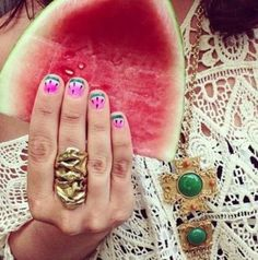 """""""Best and Brightest Summer Nail Polish Colors""""     Says Kashu: Save me some watermelon!"""