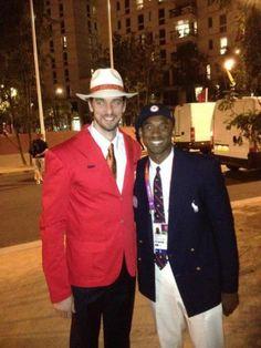 Pau Gasol y  Kobe Bryant London 2012