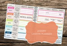 Printable Lesson Planner Kit - Great for teachers, students, or homeschooling parents (Now includes monthly calendars & planning pages!) on Etsy, $10.00