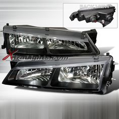 Nissan 240SX S14 Halo Headlights Black (pair)