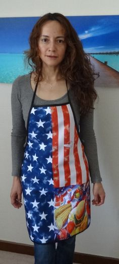 USA Flag Apron, by Fighter Pilot in the Kitchen